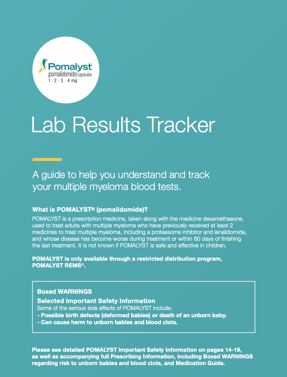 POMALYST® (pomalidomide) Lab Results Tracker